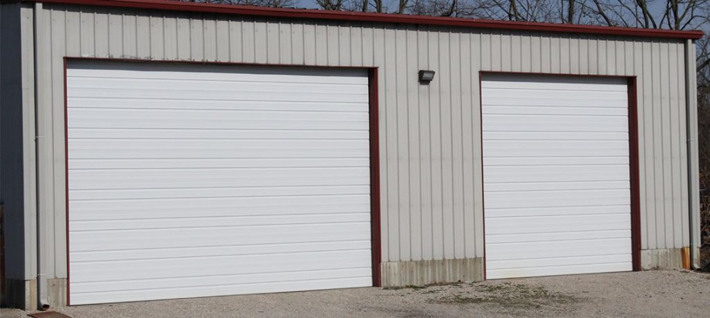 Commercial shop garage doors