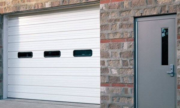 Sectional commercial garage door